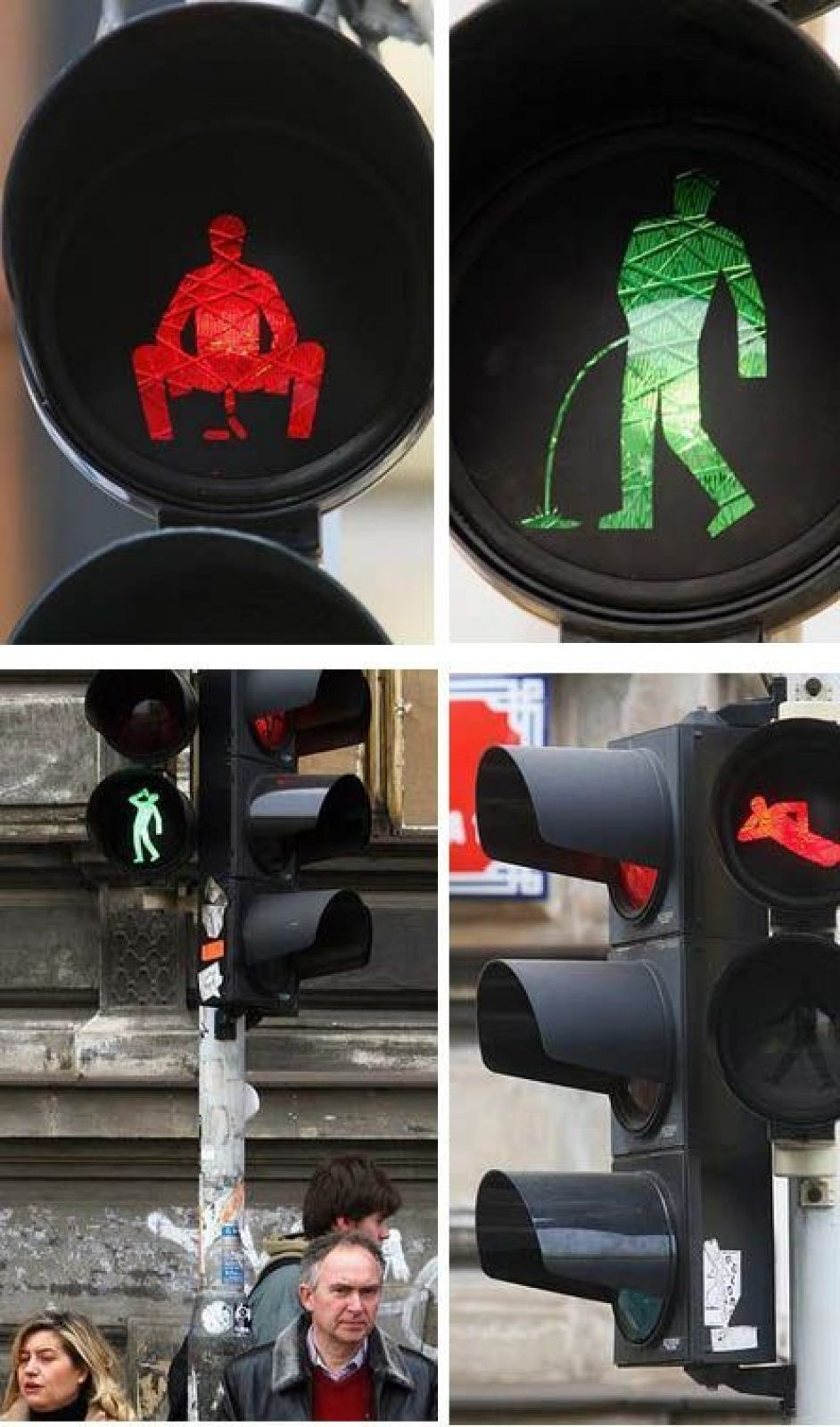 Оригинальные светофоры на улицах различных городов в разных странах