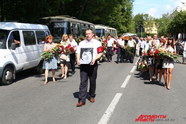 Траурная процессия проследовала на улице Глинки.