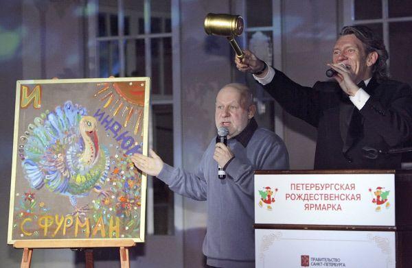 Актер Семен Фурман написал картину «Индюк».