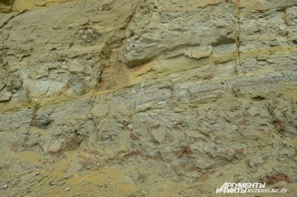 Существует гипотеза, что 130 миллионов лет назад динозавры приходили сюда поесть вкусной глины. Но почва здесь была размытой, зыбкой. Крутые берега обваливались и хоронили целые семьи ящеров.