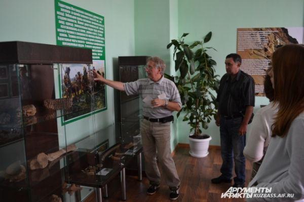 Обо всей живности и народах, обитавших на севере Кузбасса, подробно рассказывает историк и экскурсовод Александр Вайкутис.