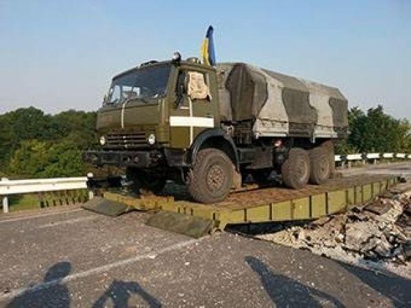 Временная переправа в Северодонецке