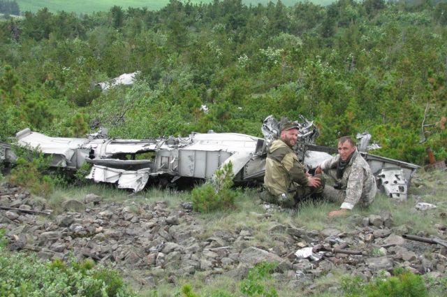 Американский бомбардировщик пролежал на склоне горы Зелёная 70 лет.