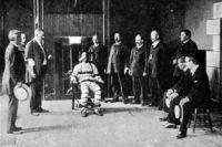 Казнь на электрическом стуле, 1900 год.