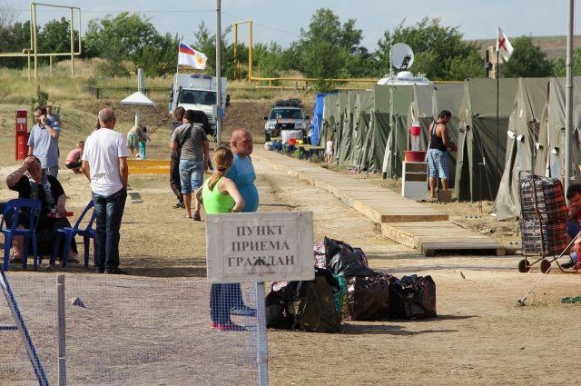 В лагере беженцев Ростовской области