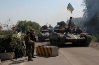 Танки армии Украины в районе Луганска.