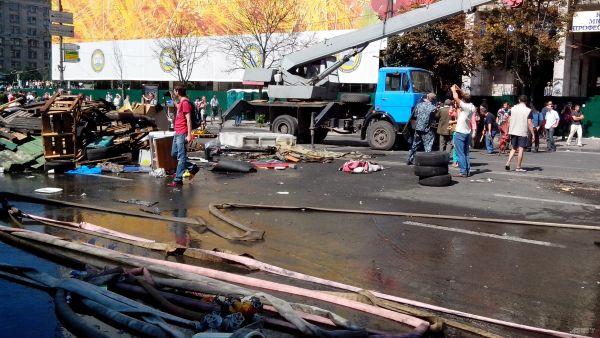 Активисты Майдана заблокировали кран