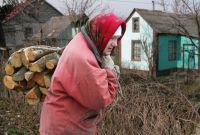Заготовка дров на селе.
