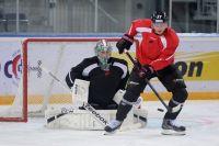 Первая тренировка «Авангарда» на омском льду.