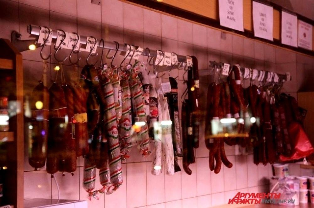 Колбасы и колбасные изделия производства ЕС, США, Канады и Австралии.