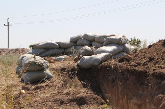 Укреппост близ Донецка РФ