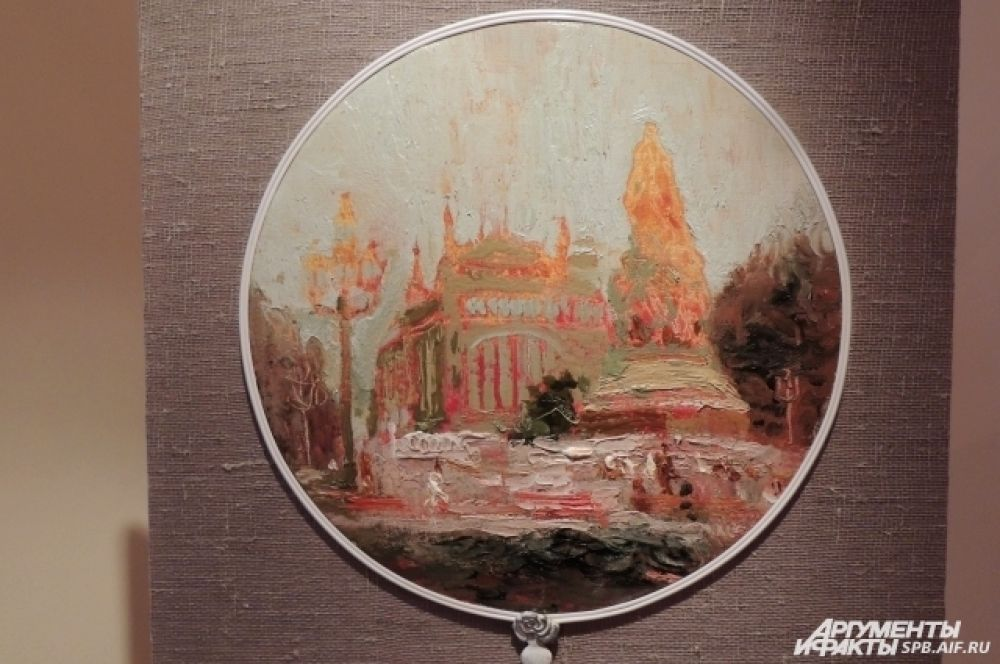Любимое место художника, Екатерининский сад, на картине стало ярким и солнечным.