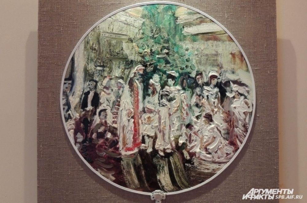 В картине про рождественский бал практически слышна музыка.