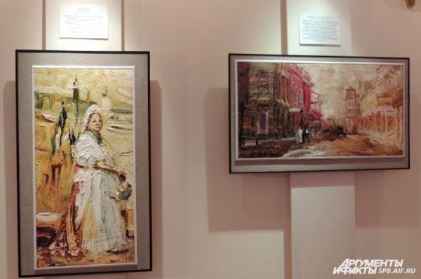 На своих картинах художник изображает эмоции.