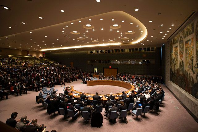 Зал заседаний СБ ООН