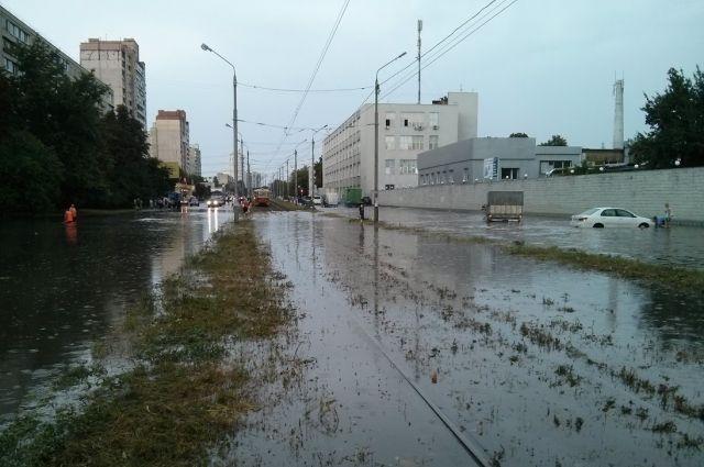 Последствия ливня в Киеве