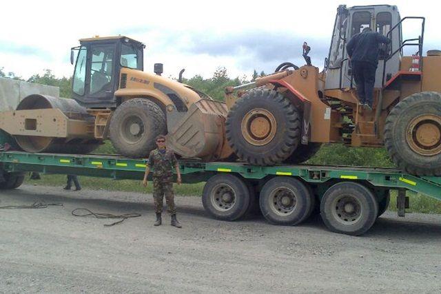 18 единиц техники было задействовано при строительстве.