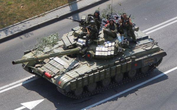 Танк в Донецке