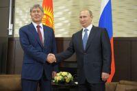 Алмазбек Атамбаев и Владимир Путин