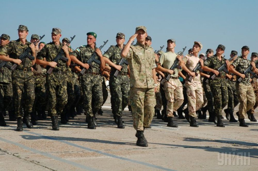 Репетиция парада ко Дню Независимости в Киеве