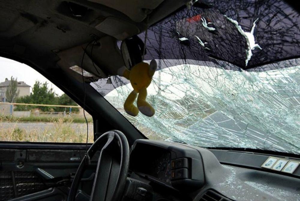 Силы АТО уничтожили под Горловкой автомобиль сепаратистов
