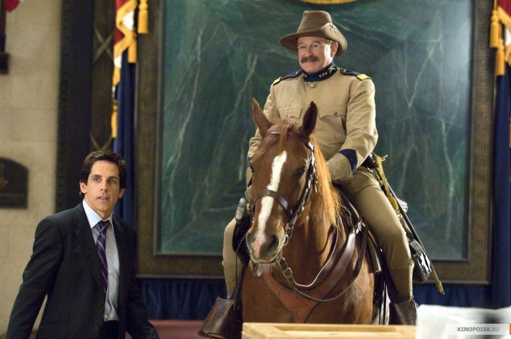 В трилогии «Ночь в музее» Уильямс сыграл ожившую восковую фигуру американского президента Теодора Рузвельта