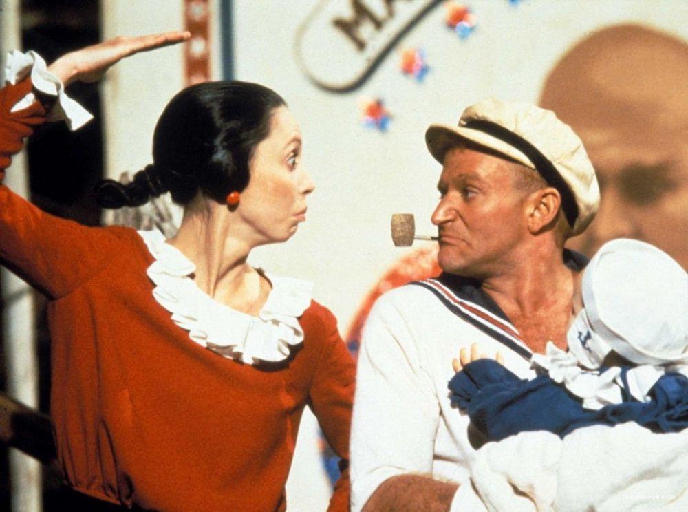 """Первая крупная роль Уильямса в музыкальной комедии """"Попай"""" 1980 года"""