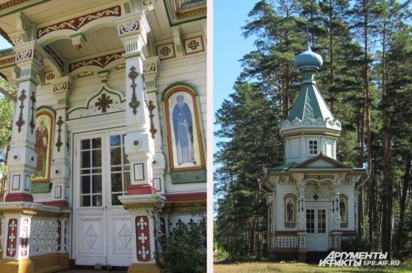 Часовня в честь Успения Божией Матери была возведена в 1899 году на месте молитвенных бдений преподобного Арсения.