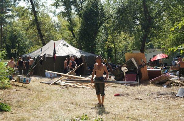 Майдан переехал на Труханов остров