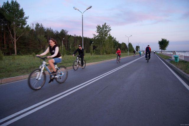 Новосибирская велодорожка будет несколько скромнее.