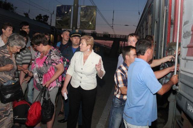 Вынужденные переселенцы с Украины.