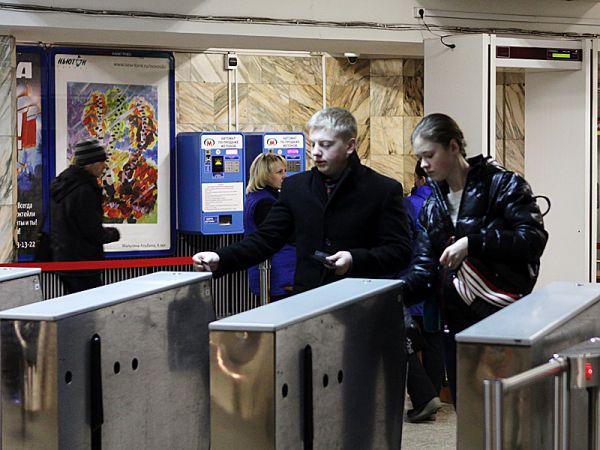 Турникет на станции «Красный проспект». Новосибирск.