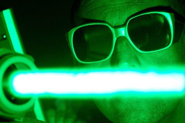 Лазерный луч.