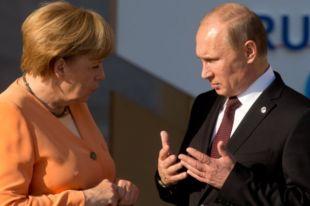 Путин обсудил с Меркель оказание гуманитарной помощи Украине