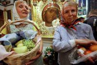 Освящение яблок и других плодов в праздник Преображения Господня.