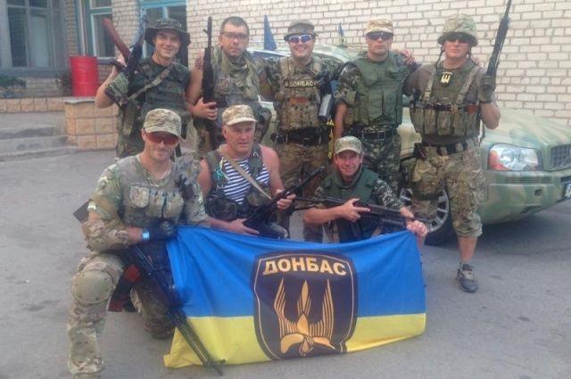Бойцы баьальона Донбасс