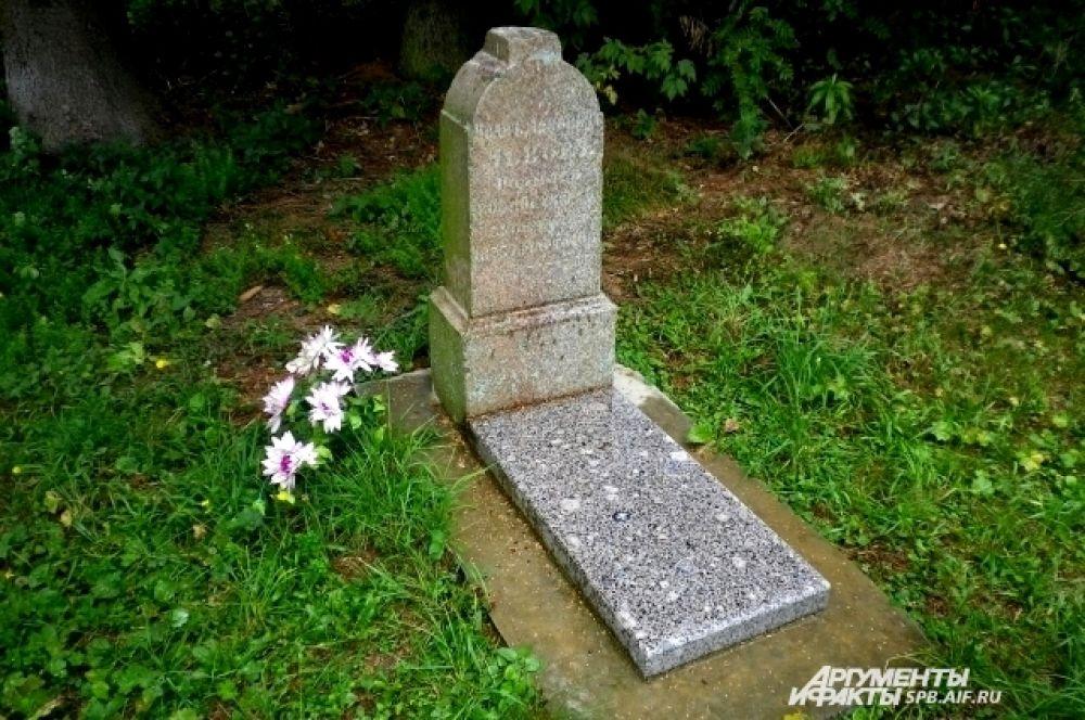 В Градницах от бывшего кладбища осталось лишь одно надгробие.