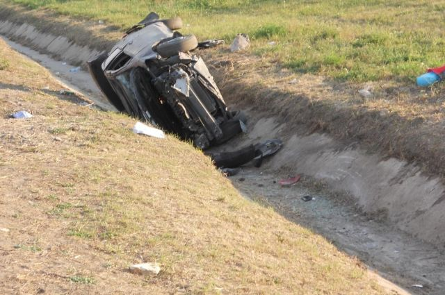 Женщина 40 лет не справилась с управлением Toyota Yaris