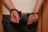 Задержанная преступница