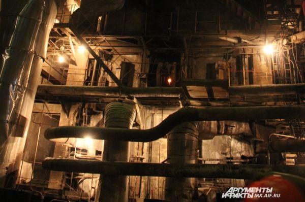 Этот котёл ТЭЦ сейчас даёт горячую воду всему Байкальску.