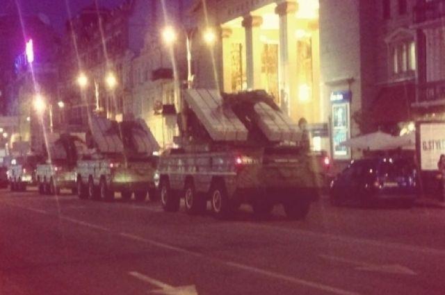 Репетиция военного парада на Крещатике
