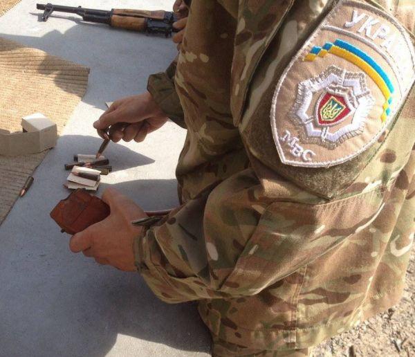 Последние тренировки новобранцев батальон «Киев-1» перед выездом в зону АТО