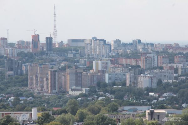 Центр Нижнего Новгорода. Вид с улицы Родионова