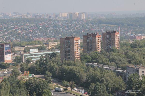 Вид на Нагорную часть города с проспекта Гагарина