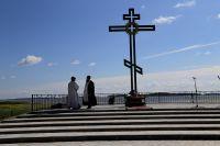 Памятник в честь присоединения Сибири.