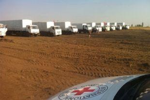 Грузовики с гуманитарной помощью добрались до Луганска