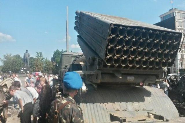 Украинская техника в Донецке