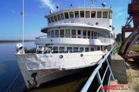Один из последних больших пассажирских кораблей на Амуре