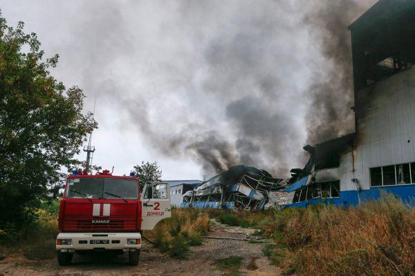 От обстрела пострадала местная  печатная фабрика.