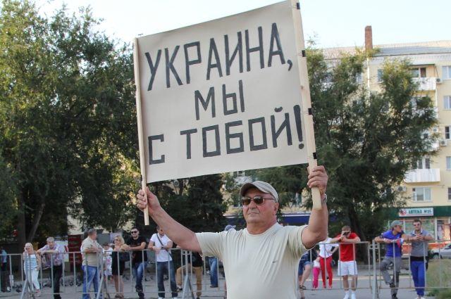 Один из активистов в Ростове